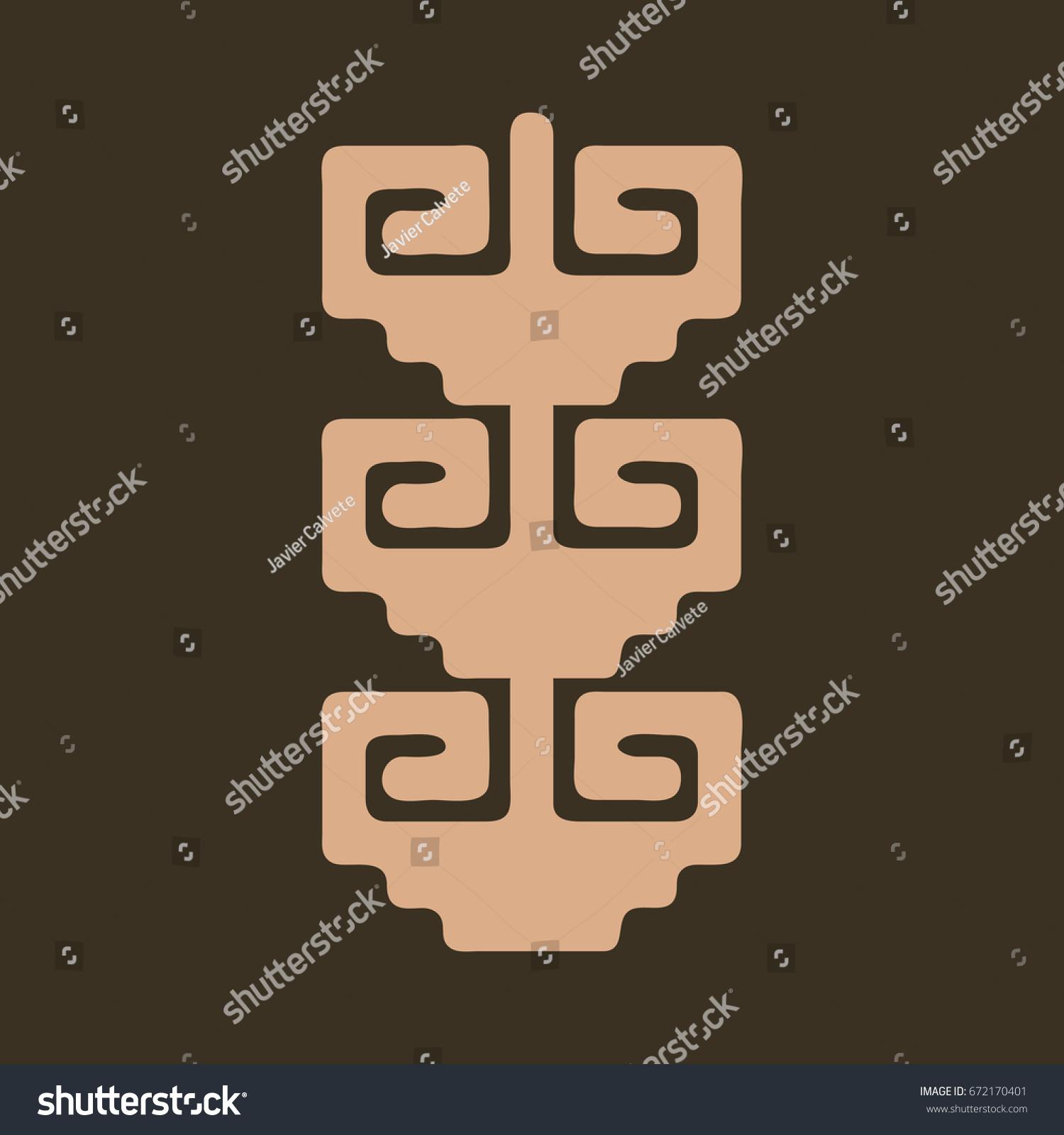 Symbols ancestors latin american cultures stock vector 672170401 symbols ancestors latin american cultures buycottarizona