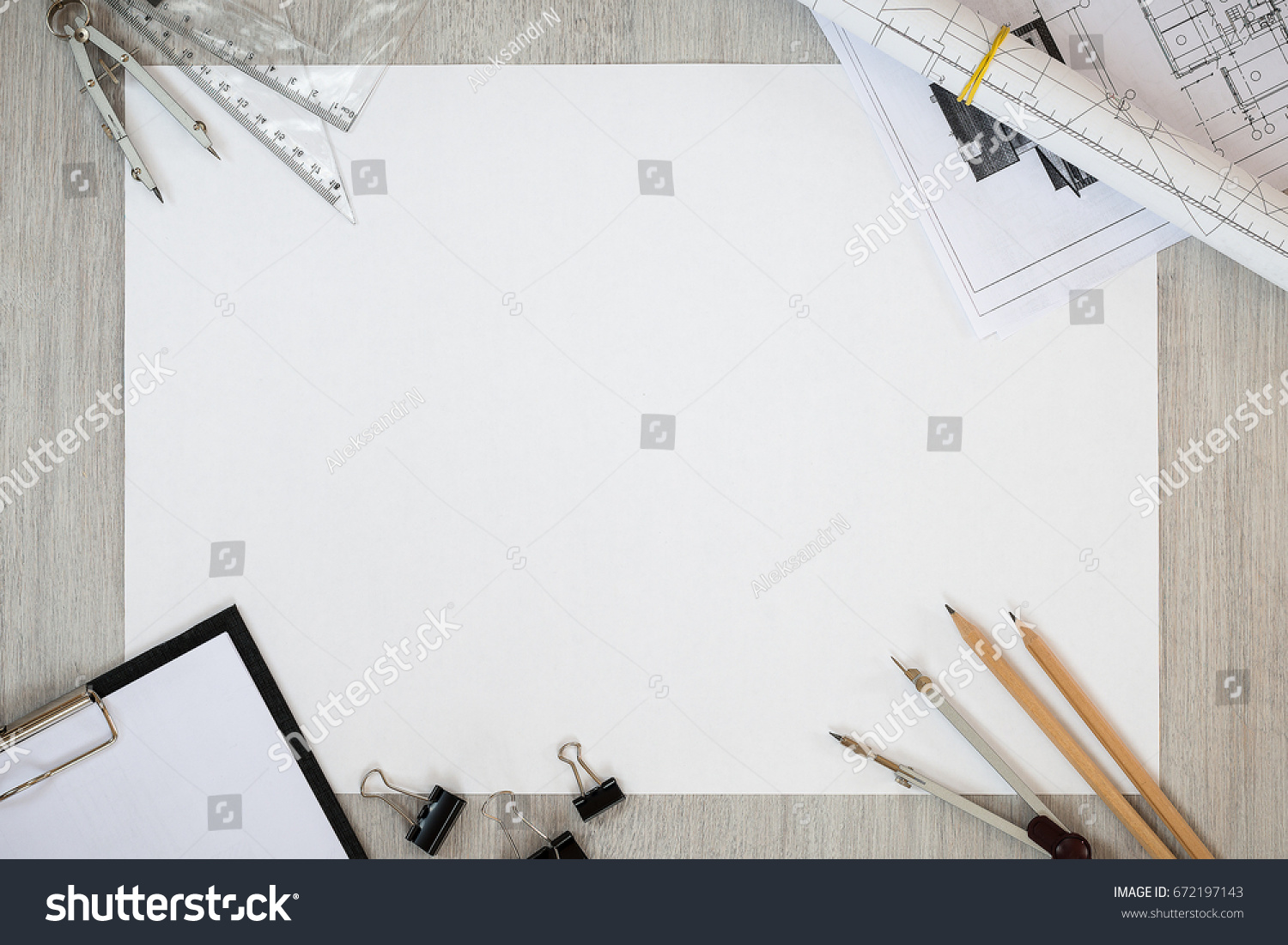 idea office supplies. the sheet of paper on a table with office supplies. idea business. sketch. supplies r