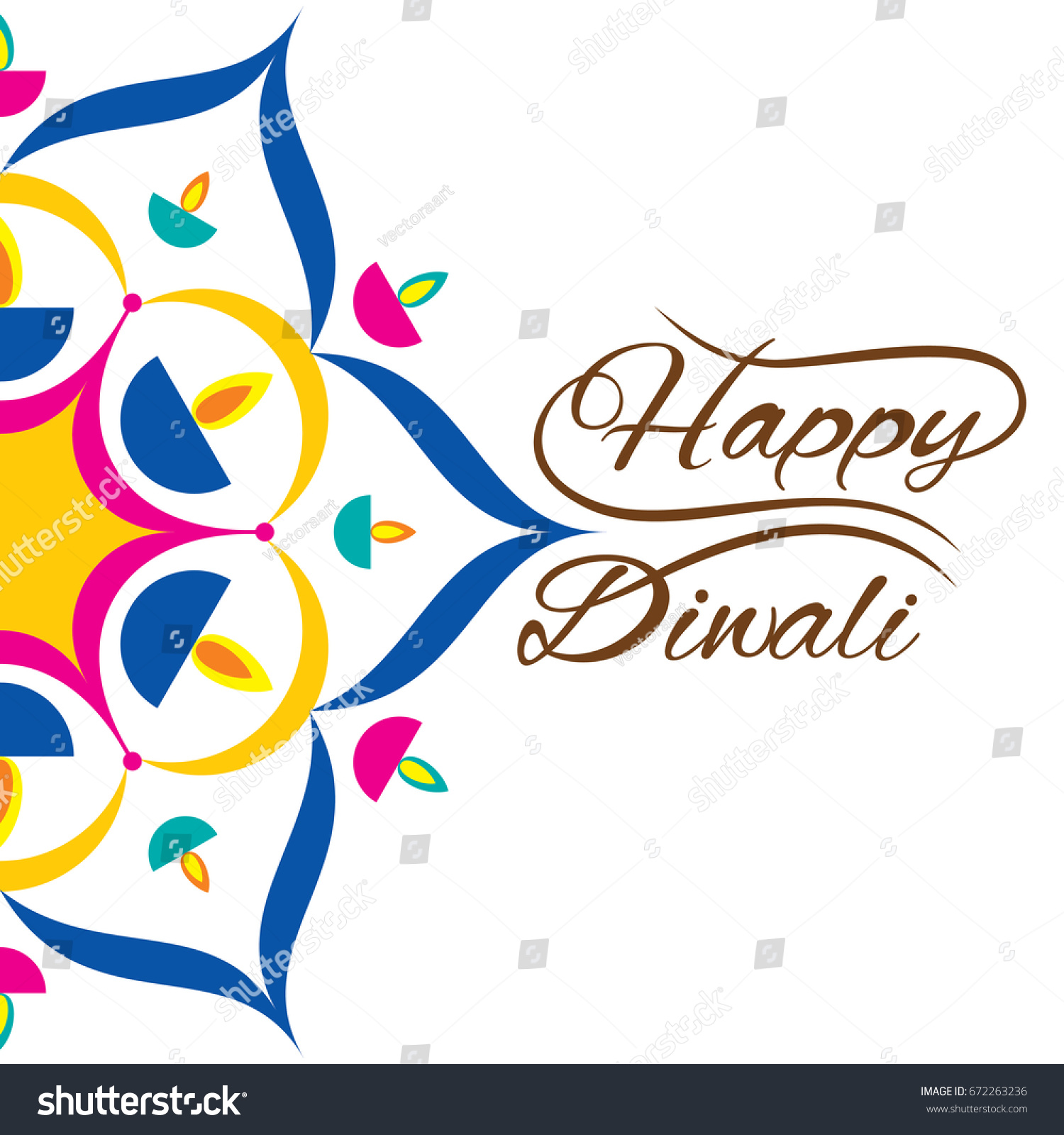 Creative beautiful diwali greeting card decorated stock vector creative beautiful diwali greeting card decorated with colorful diyas design m4hsunfo