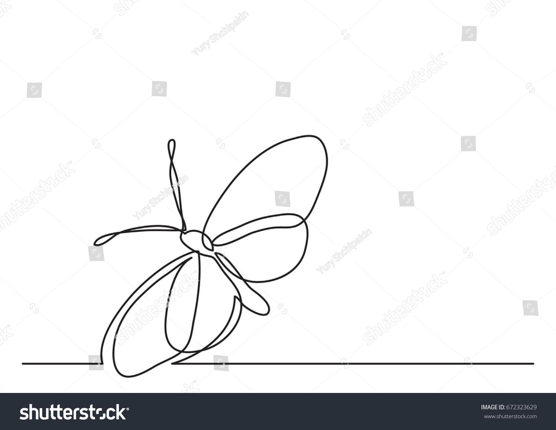 single line drawing butterfly stock vector 672323629 shutterstock