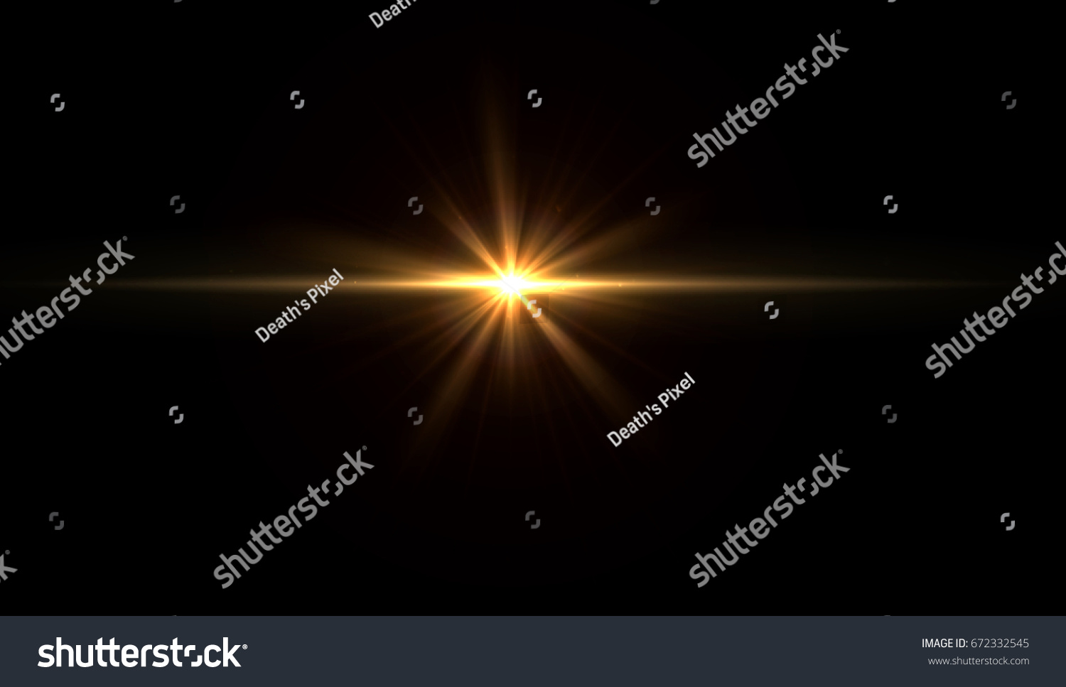 star flare in black background. #672332545