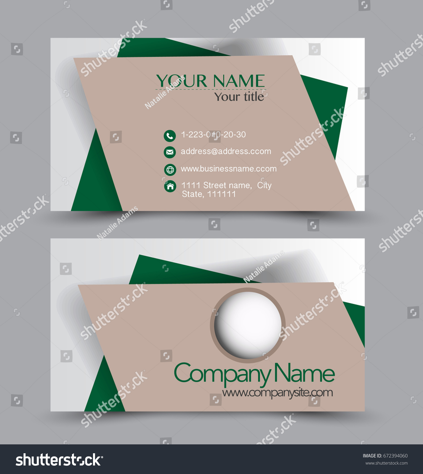 Template for business card gallery free business cards business card set template business identity stock vector business card set template for business identity corporate magicingreecefo Image collections