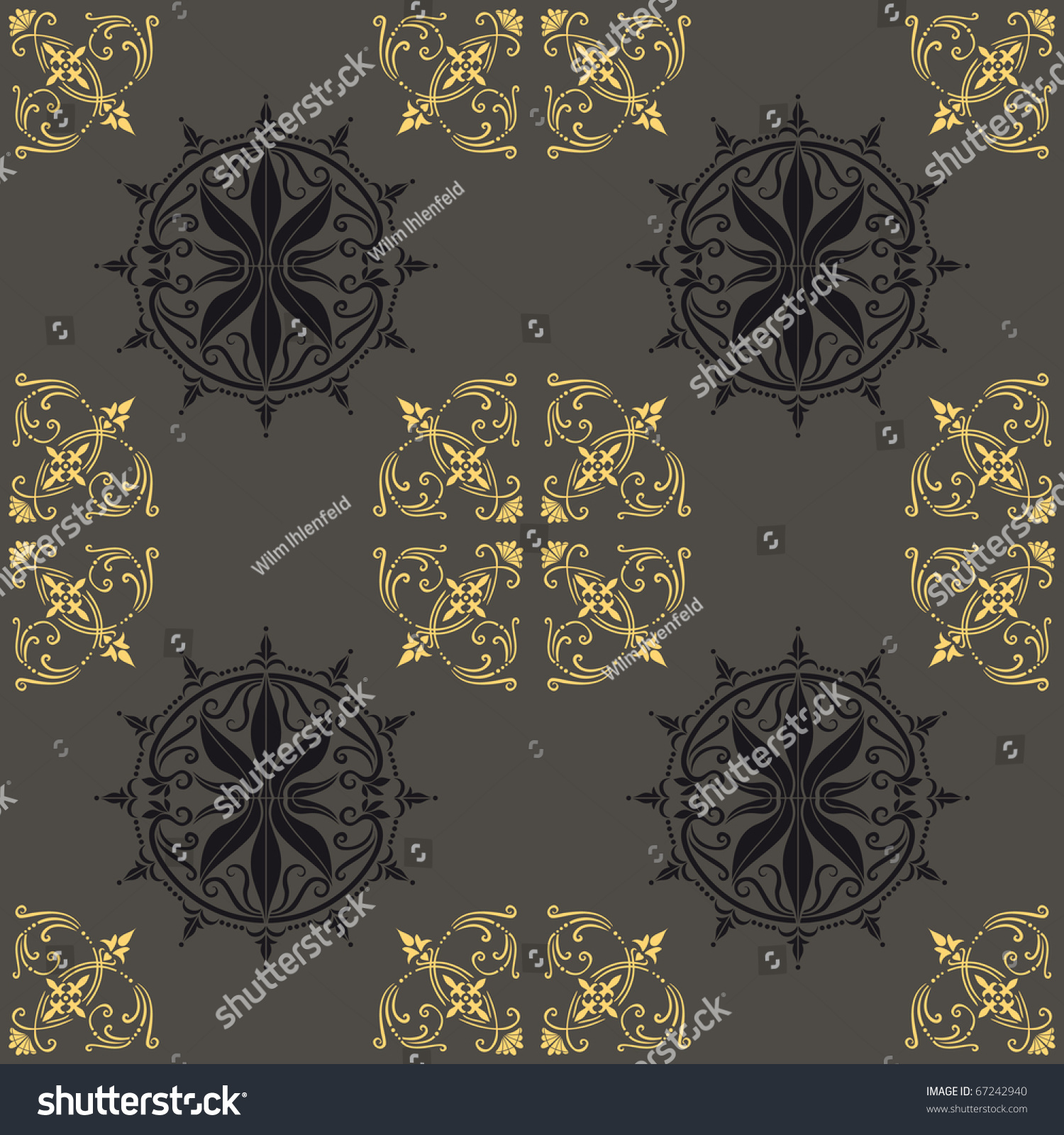 Antique Wallpaper Cloth Fancy Paper Pattern Stock Vector 67242940