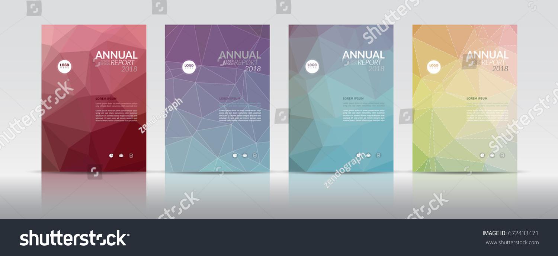 multi page brochure template - set cover design annual report cover stock vector