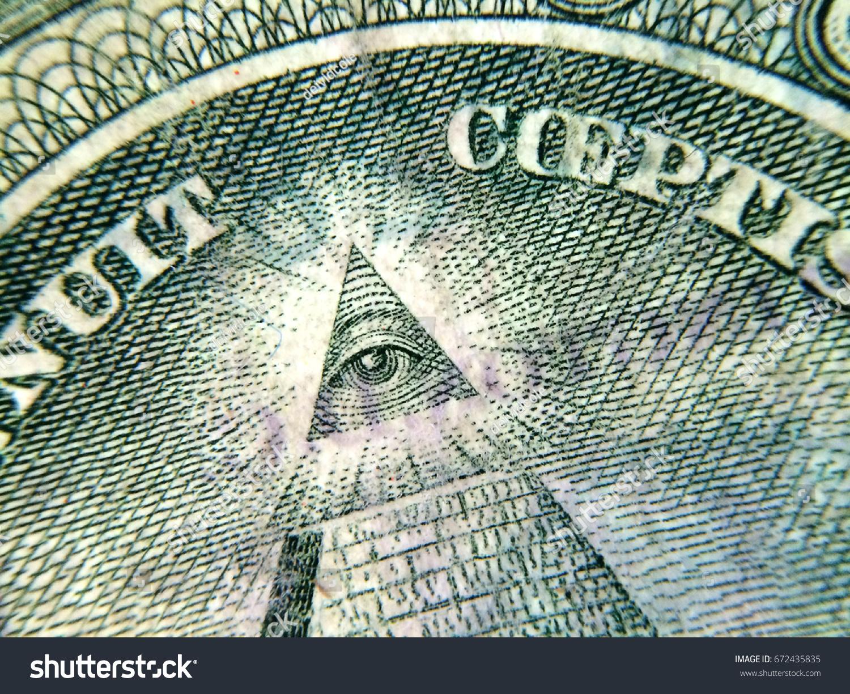 American Dollar Pyramid Eye Illuminati Stock Photo Edit Now