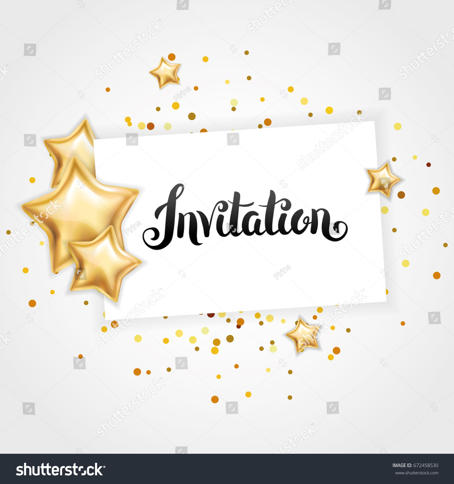 Gold shine star invitation background banners stock vector gold shine star invitation background banners you are invited gold banner with stopboris Images