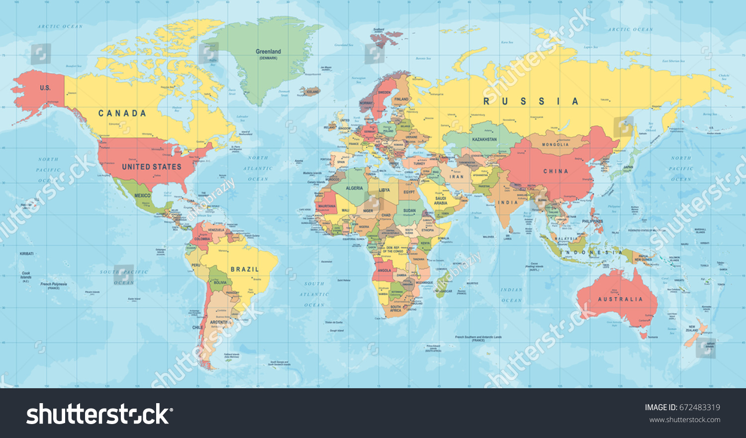 World map vector high detailed illustration vectores en stock world map vector high detailed illustration of worldmap gumiabroncs Image collections