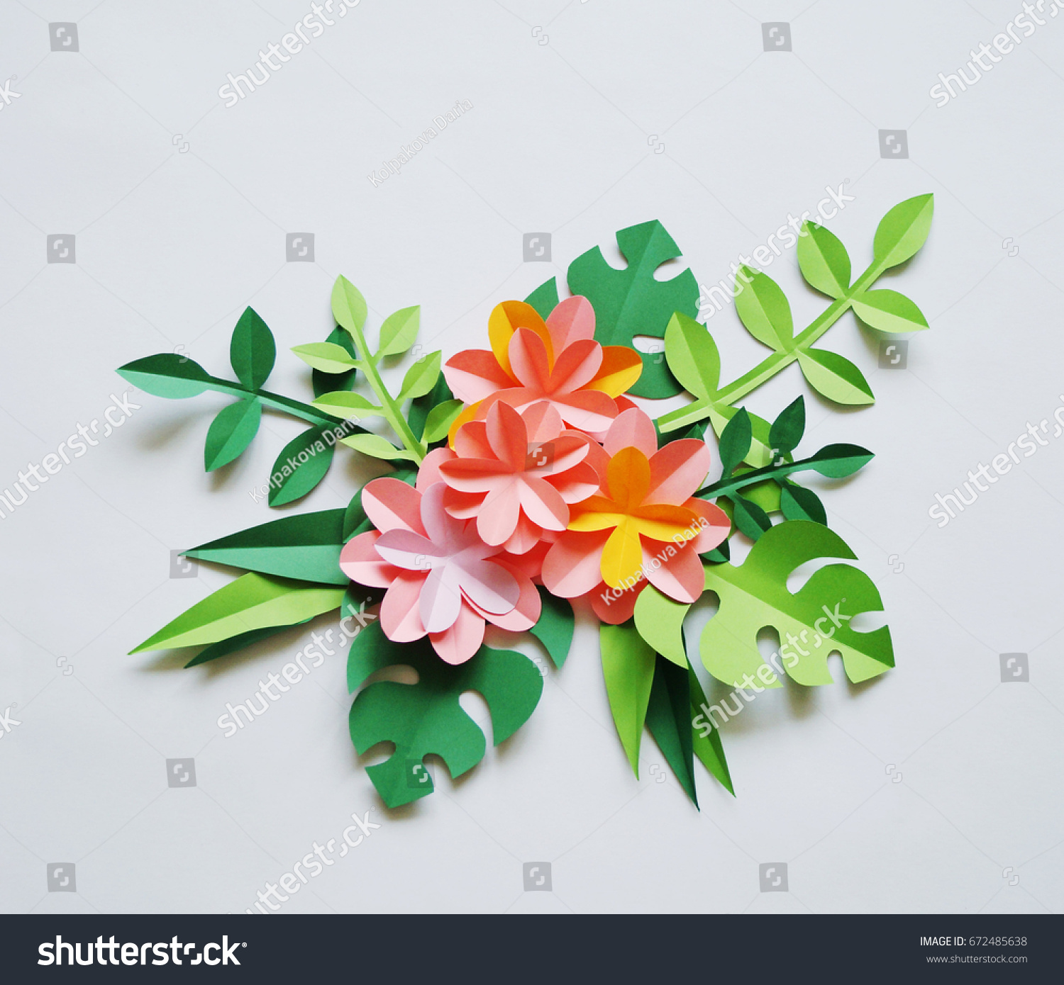 Colors Paper White Background Tropics Paper Stock Photo Edit Now