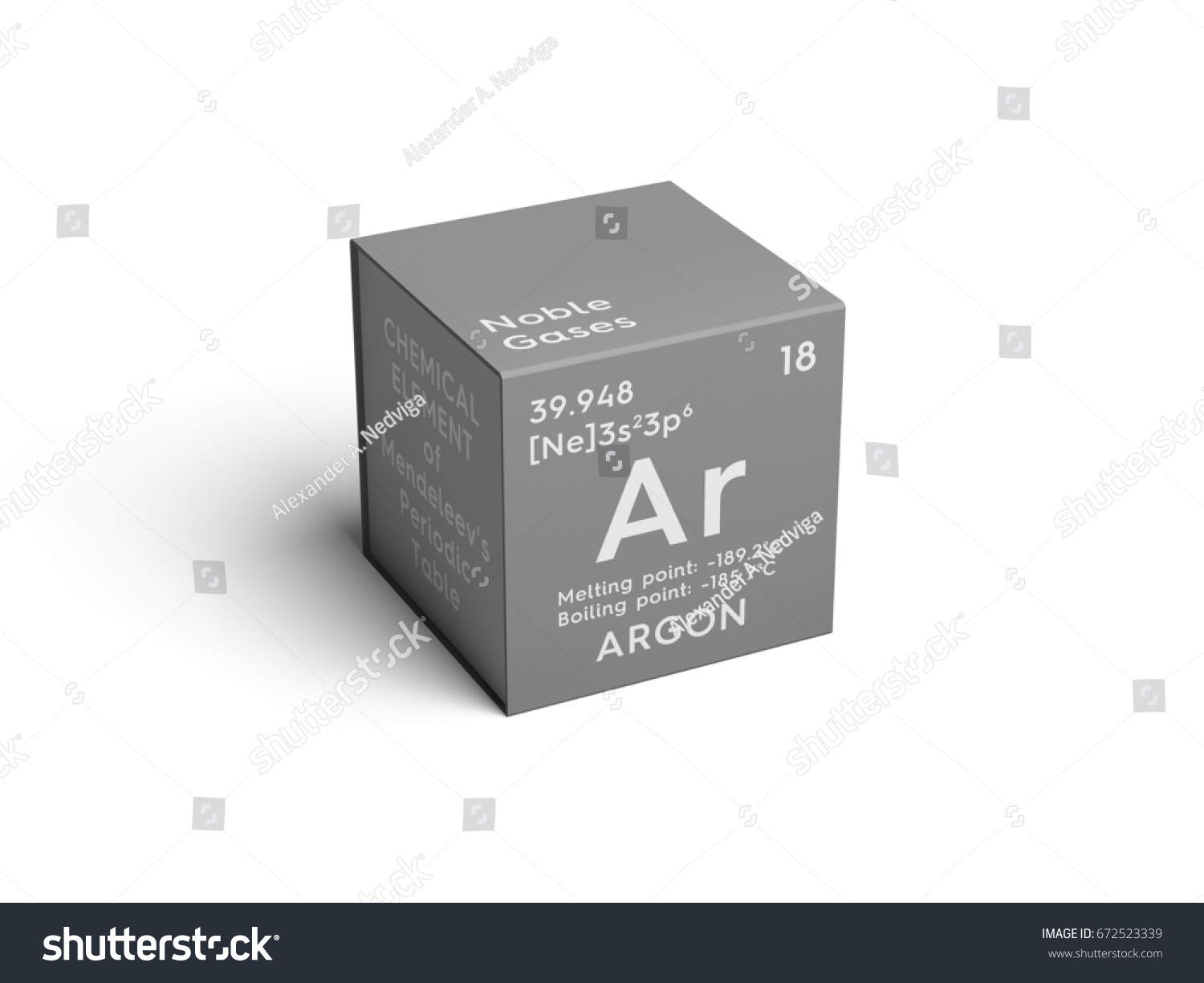 Argon noble gases chemical element mendeleevs stock illustration argon noble gases chemical element of mendeleevs periodic table argon in square cube gamestrikefo Choice Image