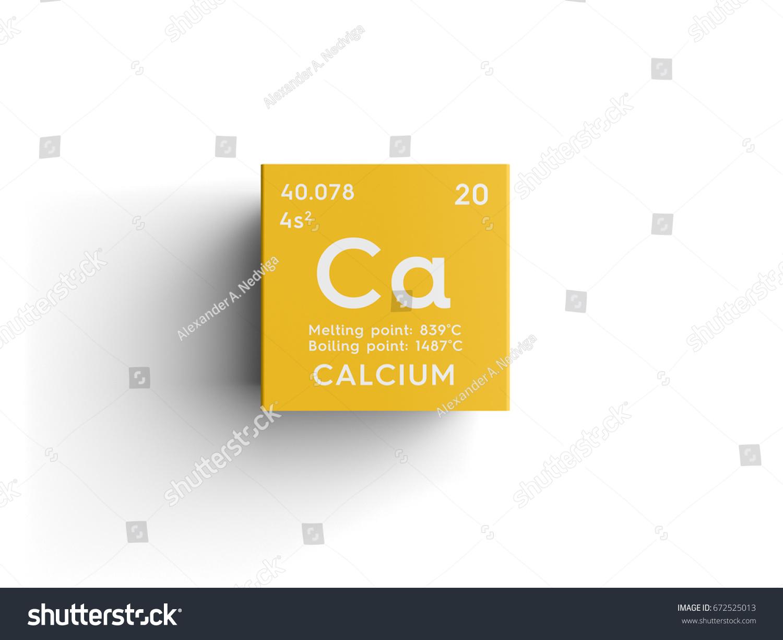 Calcium alkaline earth metals chemical element stock illustration calcium alkaline earth metals chemical element of mendeleevs periodic table calcium in square gamestrikefo Images