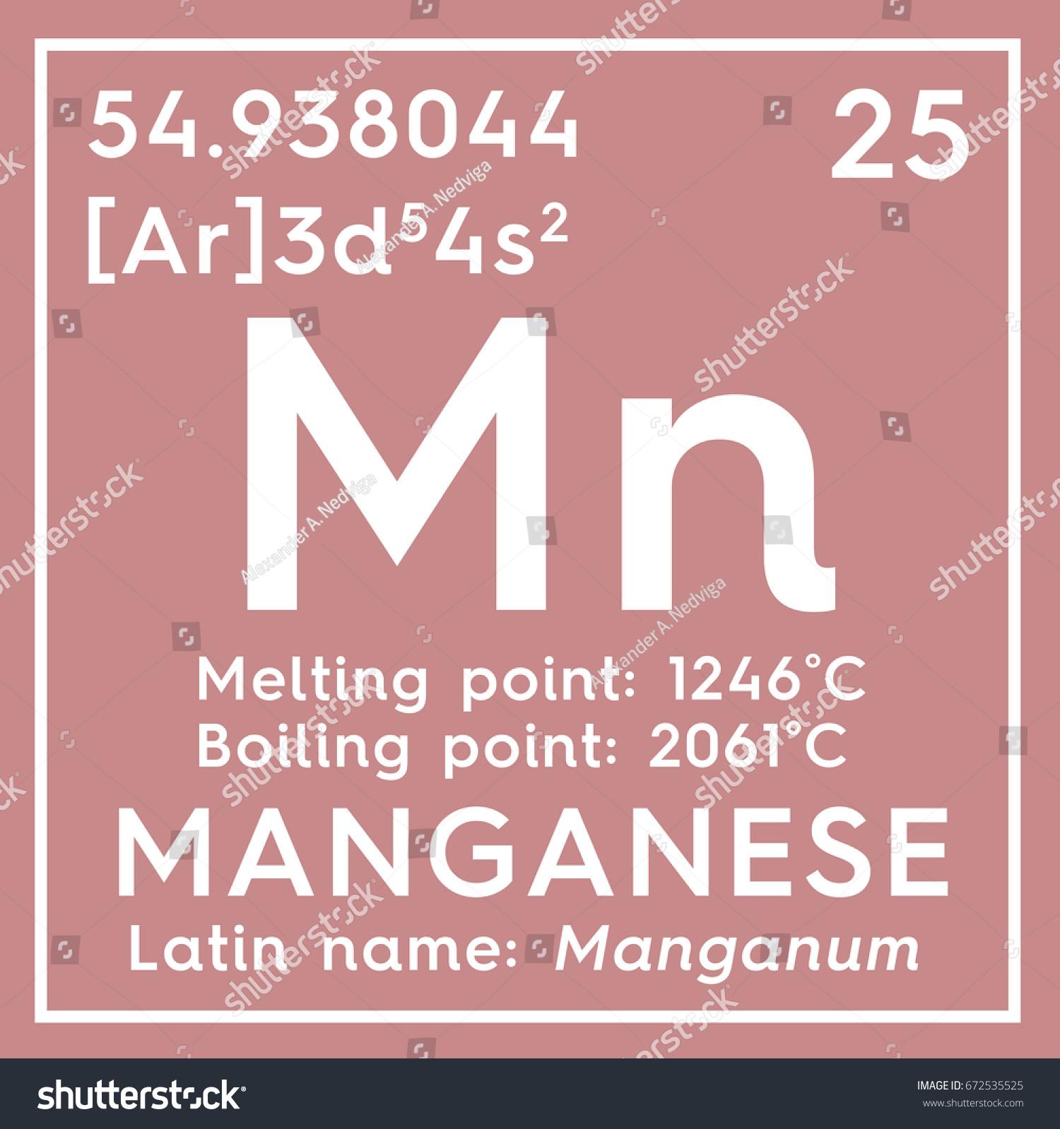 Manganese manganum transition metals chemical element stock manganese manganum transition metals chemical element of mendeleevs periodic table manganese in gamestrikefo Images