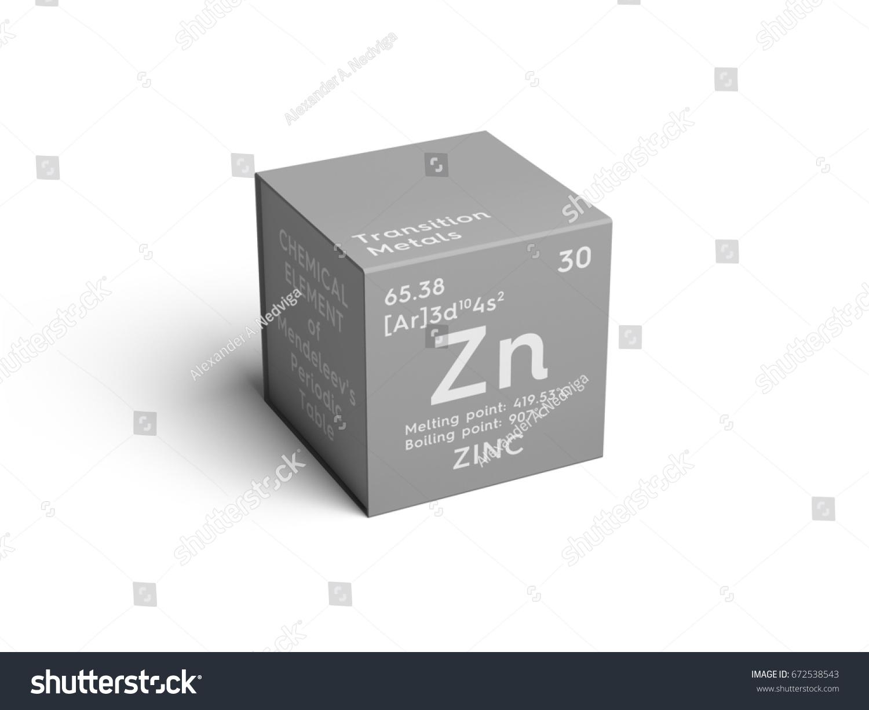 Zinc Transition Metals Chemical Element Mendeleevs Stock ...