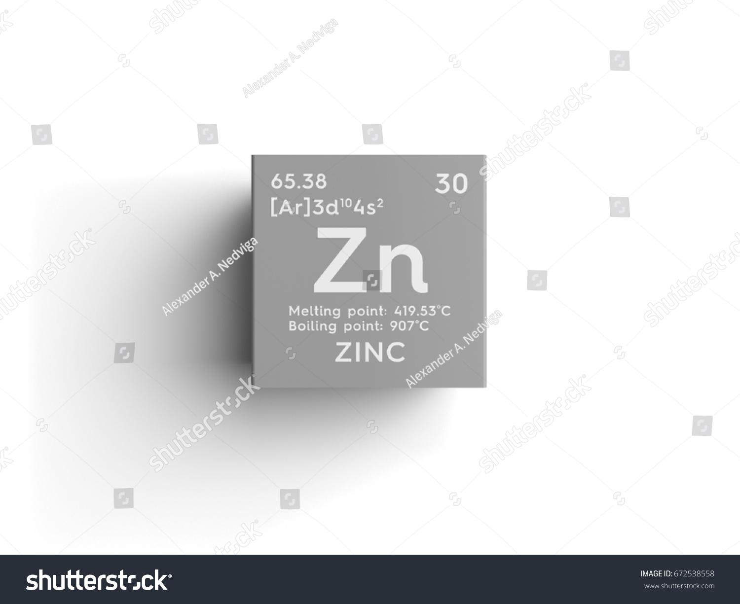 Zinc transition metals chemical element mendeleevs stock zinc transition metals chemical element of mendeleevs periodic table zinc in square cube gamestrikefo Image collections