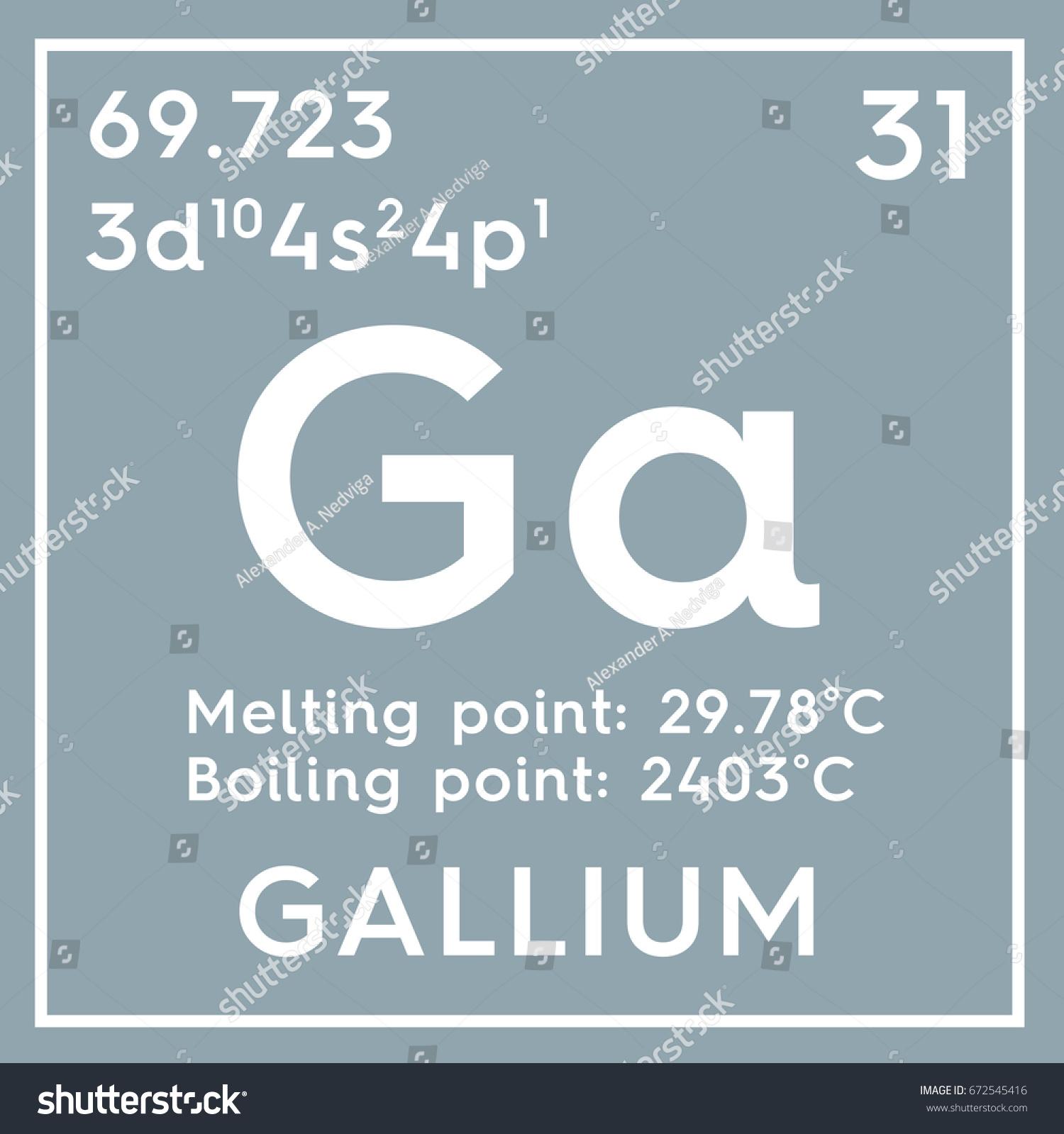 Gallium posttransition metals chemical element mendeleevs stock chemical element of mendeleevs periodic table gallium in gamestrikefo Gallery