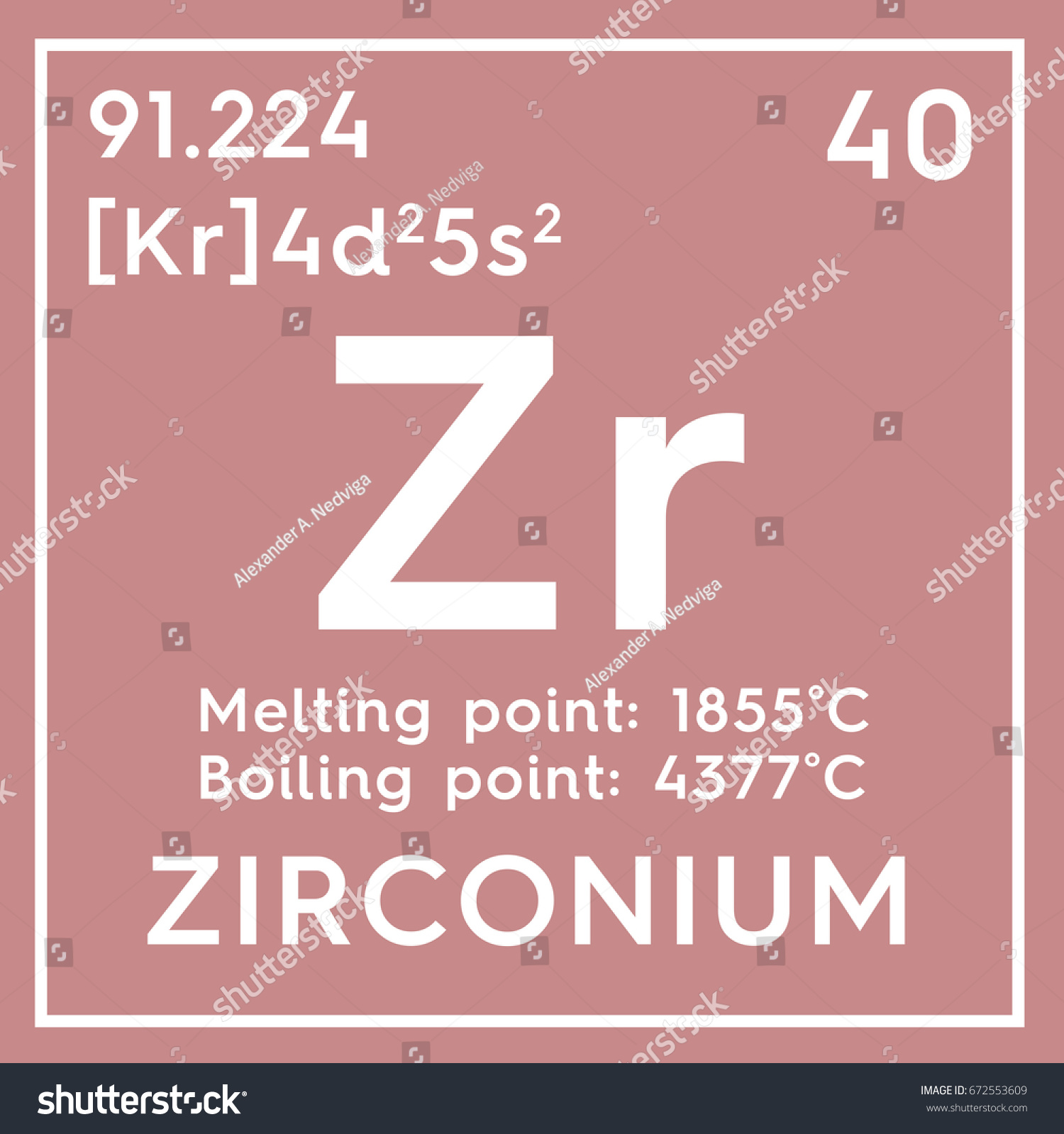 Cobalt in periodic table image collections periodic table images zirconium transition metals chemical element mendeleevs stock chemical element of mendeleevs periodic table zirconium in square gamestrikefo Image collections
