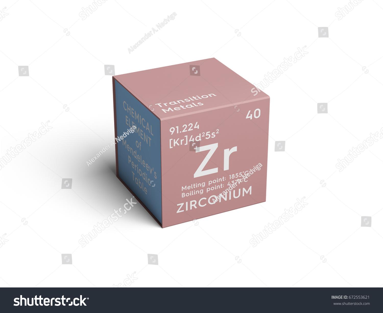 Zirconium transition metals chemical element mendeleevs stock zirconium transition metals chemical element of mendeleevs periodic table zirconium in square cube gamestrikefo Images
