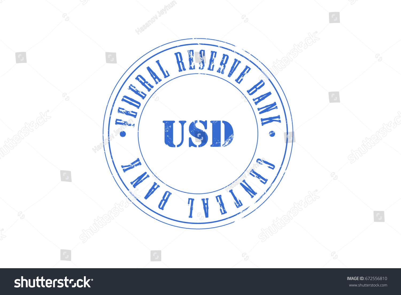 Us Dollar Central Bank Federal Reserve Stock Illustration 672556810