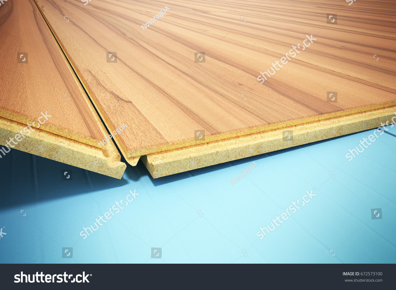 Installing Wooden Laminate Flooring With Insulation And Soundproofing Sheets Laying Step By 3d