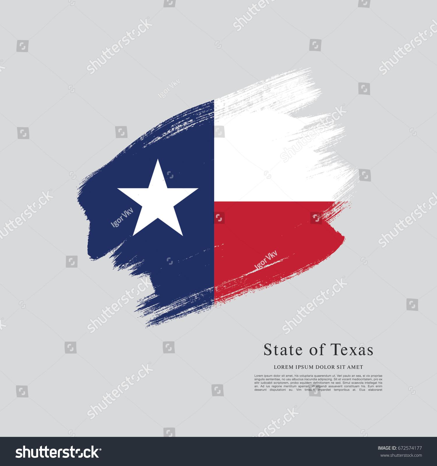 Flag Texas United States America Vector de stock672574177: Shutterstock