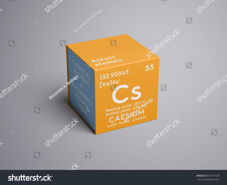 Caesium cesium alkali metals chemical element stock illustration caesium cesium alkali metals chemical element of mendeleevs periodic table caesium in gamestrikefo Choice Image