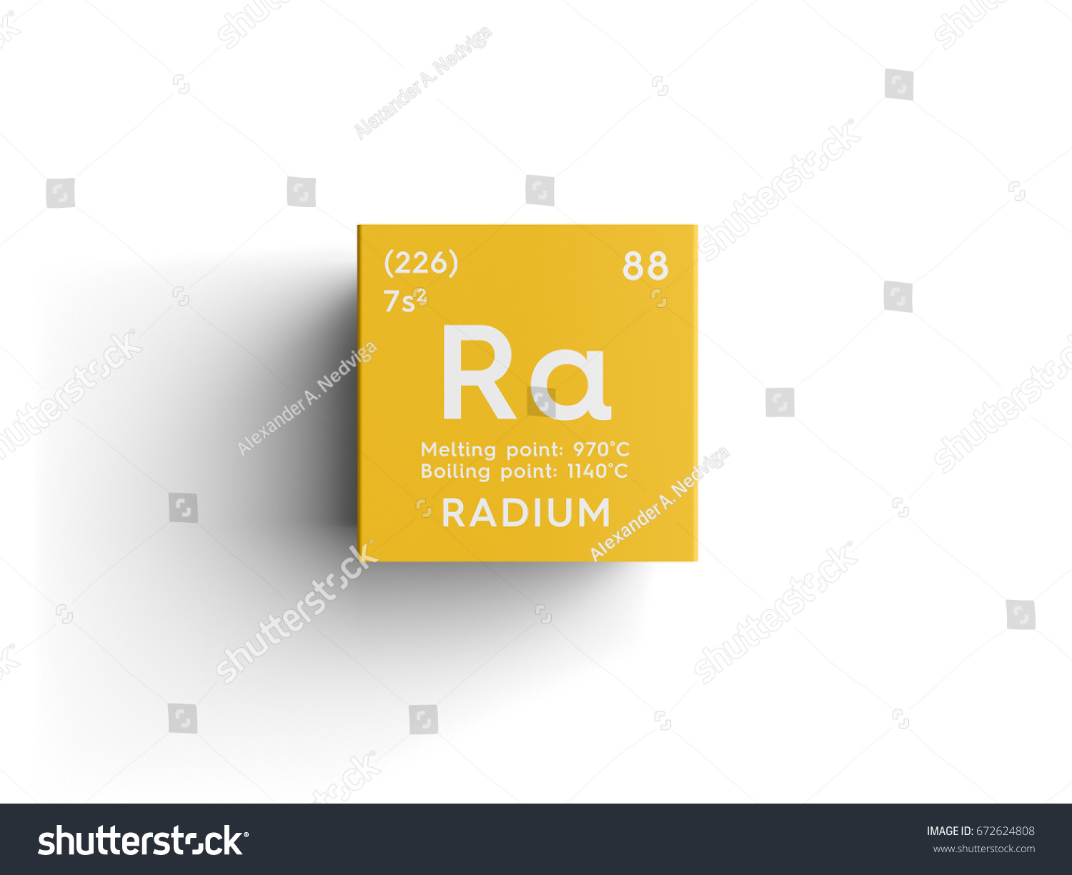 Radium alkaline earth metals chemical element stock illustration radium alkaline earth metals chemical element of mendeleevs periodic table radium in square gamestrikefo Images
