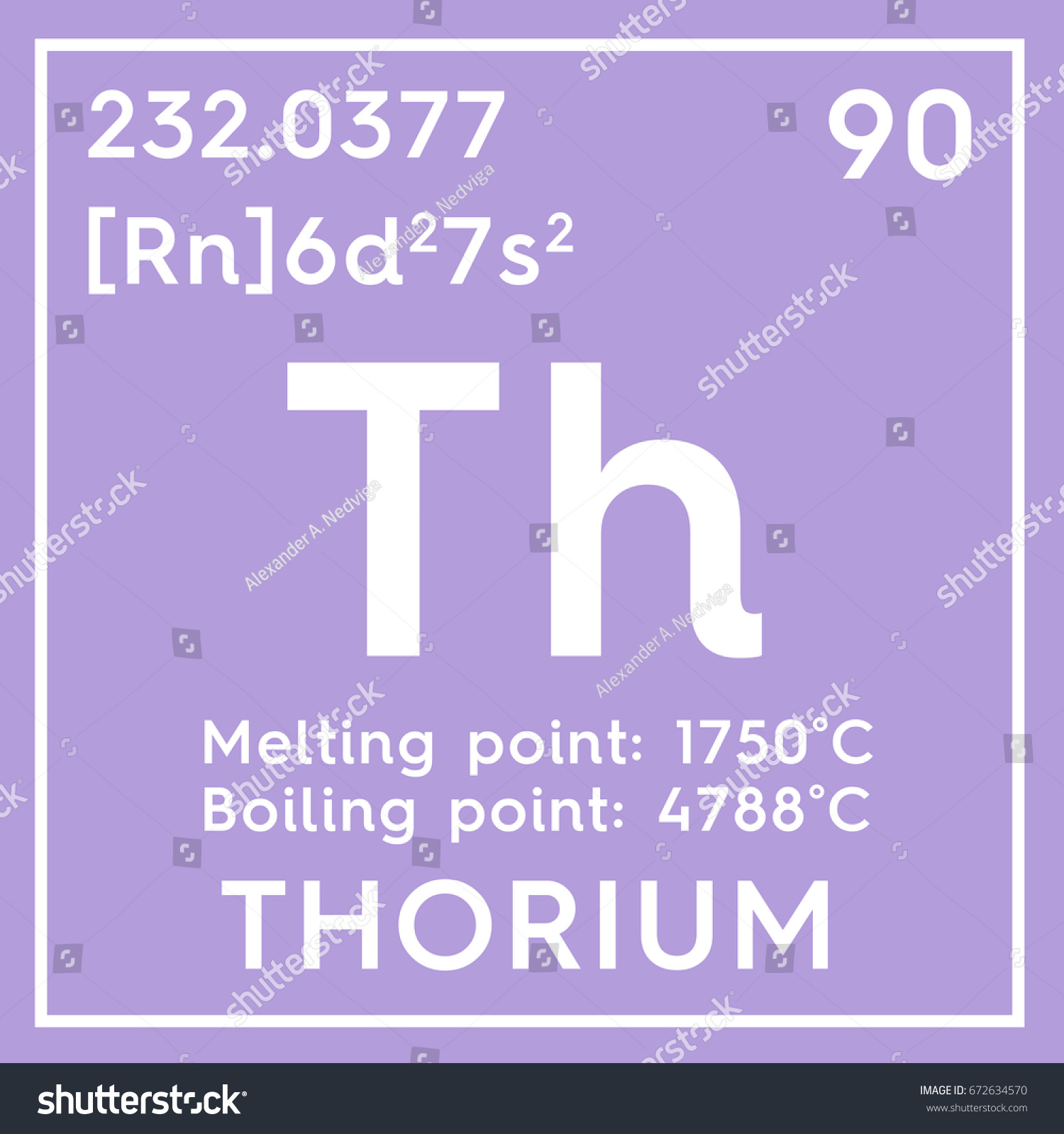 Thorium actinoids chemical element mendeleevs periodic stock chemical element of mendeleevs periodic table thorium in square cube creative gamestrikefo Image collections