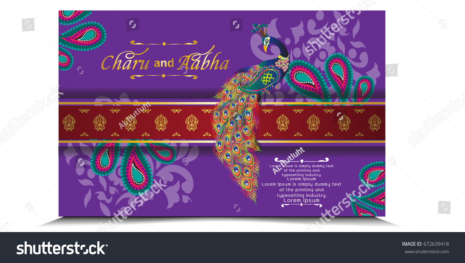 Indian Wedding Card All About Indian Vector 672639418 – All Indian Wedding Cards