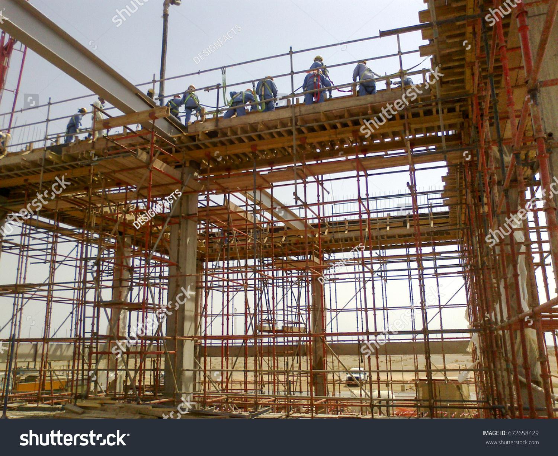 Framing Construction Substation Beam Form Work Stock Photo (Royalty ...