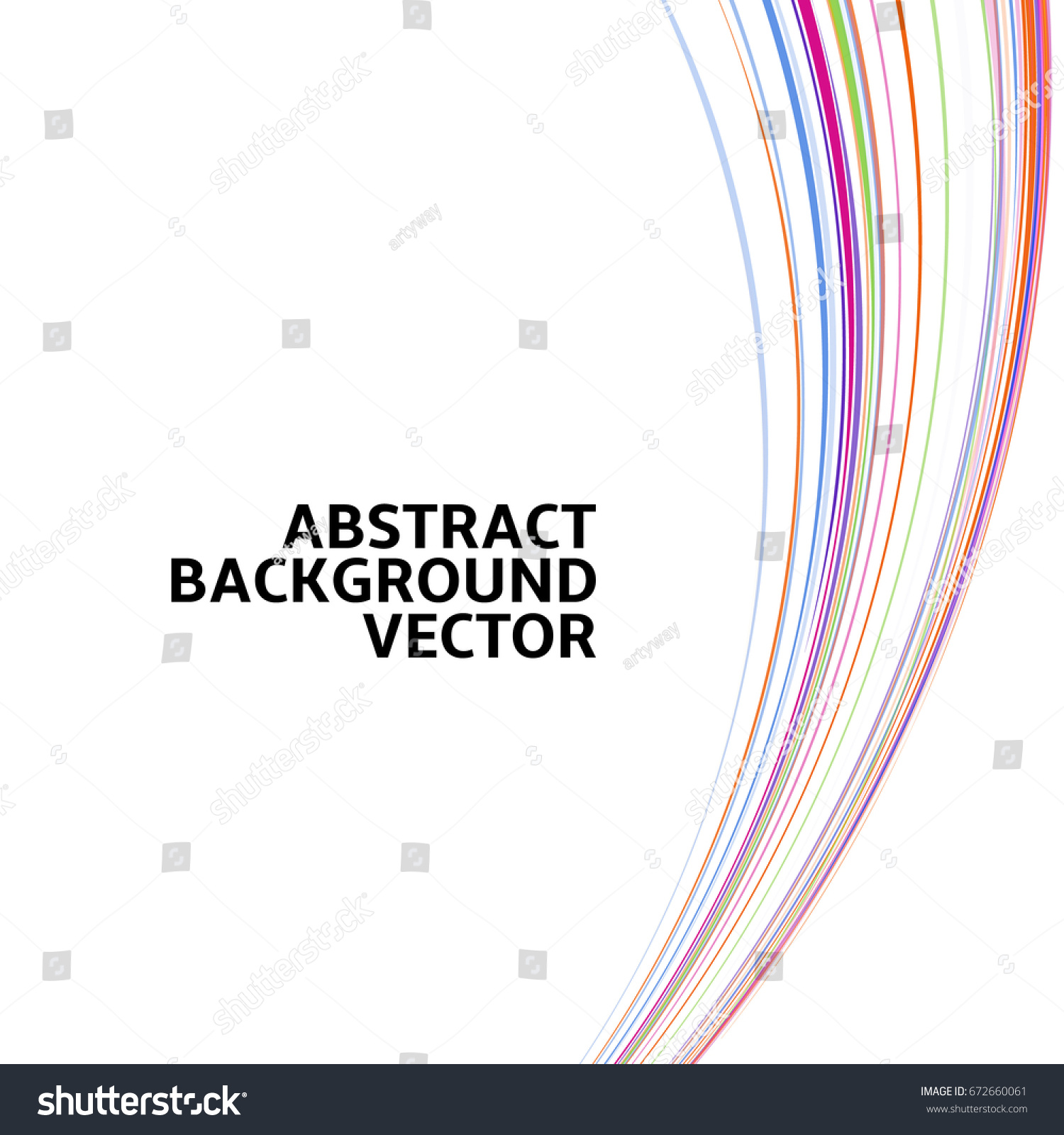 Amazing Linear Thread Abstract White Vector Stock Vector