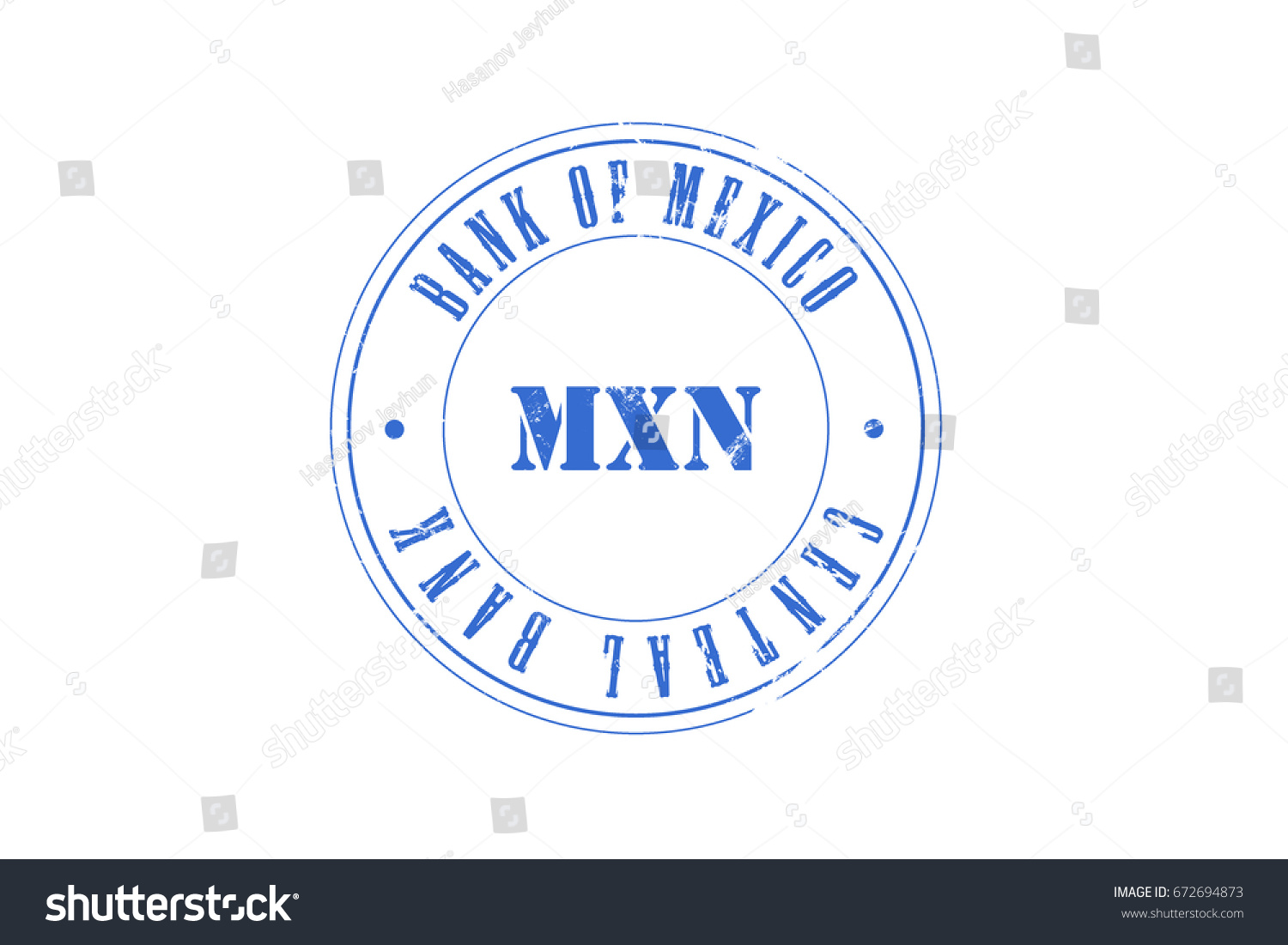 Mexican peso central bank bank mexico stock illustration 672694873 mexican peso central bank bank of mexico mxn stamp biocorpaavc
