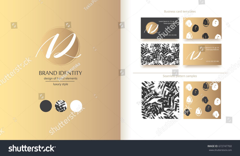 Creative Monogram Hand Drawn Calligraphy Sign Stock Vector 672747760 ...