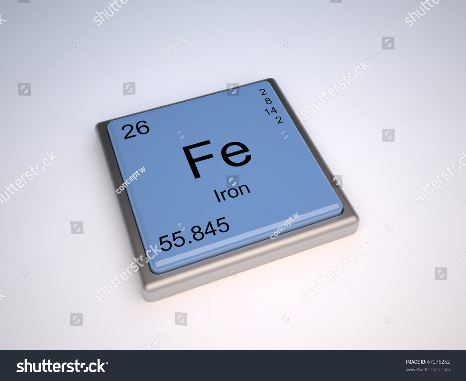 Iron chemical element periodic table symbol stock - What is fe on the periodic table ...