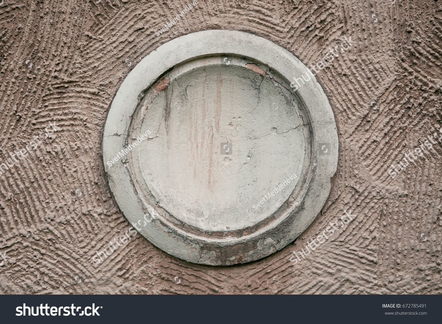 Closeup Decorative Gray Outlet On House Stock Photo (Royalty Free ...