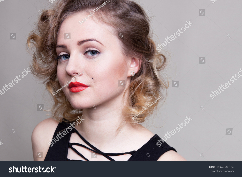 d5301635e Pretty Blond Girl Model Like Marilyn Stock Photo (Edit Now ...