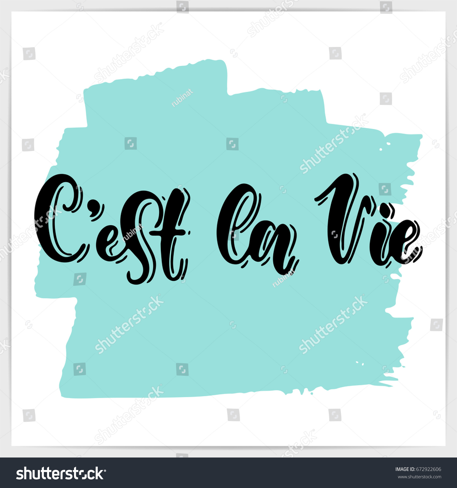 C Stock Quote Hand Lettering French Quote Cest La Stock Vector 672922606