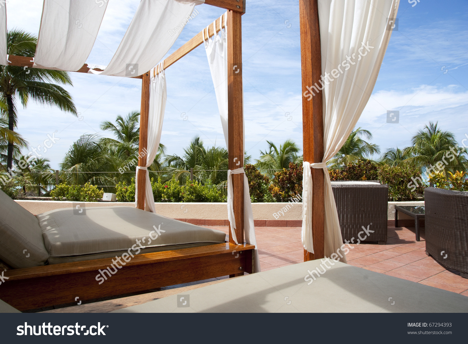 Outdoor Cabana outdoor cabana bed caribbean resort 1st stock photo 67294393