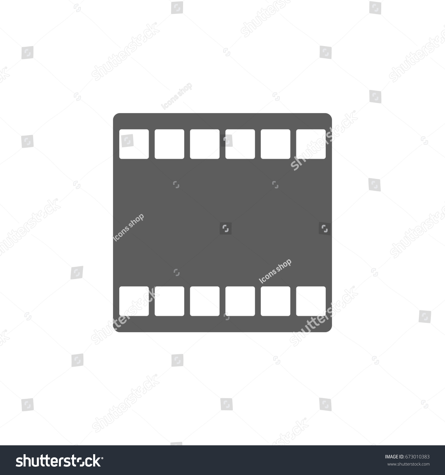 Movie film icon trendy flat style stock vector 673010383 movie film icon in trendy flat style isolated on white background symbol for your web biocorpaavc