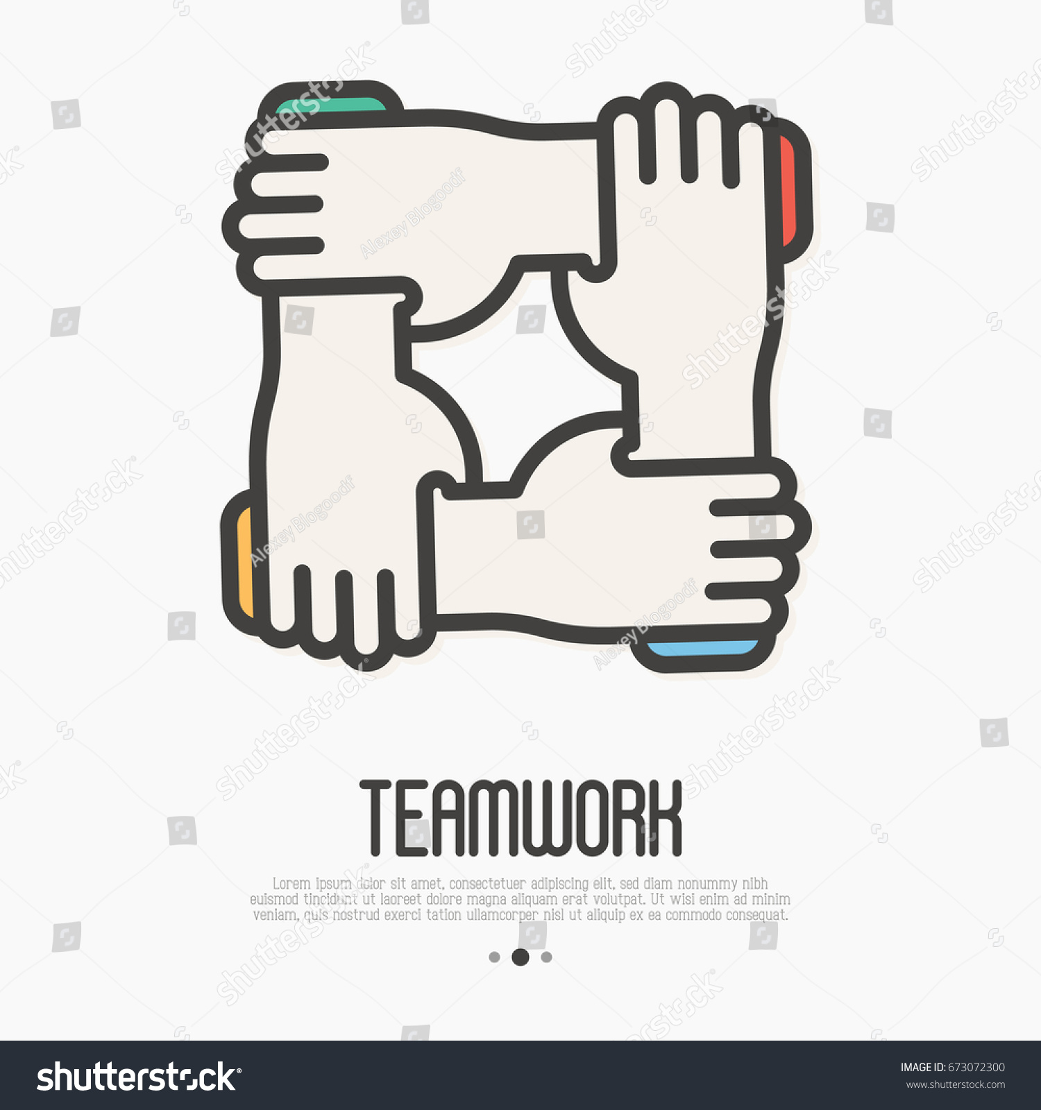 Four hands hold together wrist other stock vector 673072300 four hands hold together for the wrist other symbol of team work support buycottarizona