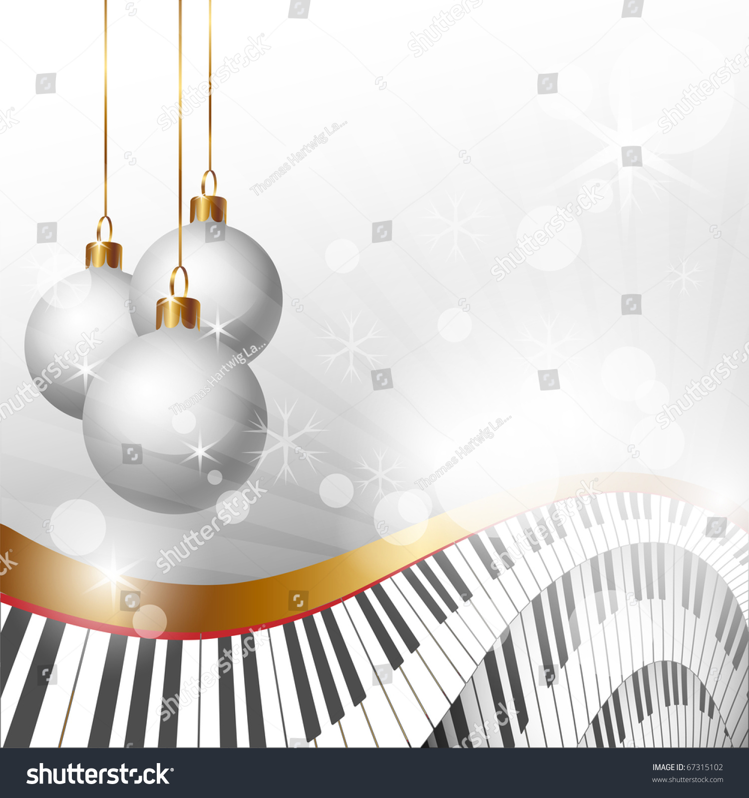Christmas Music Background.Magic Christmas Music Background Clip Art Stock Illustration