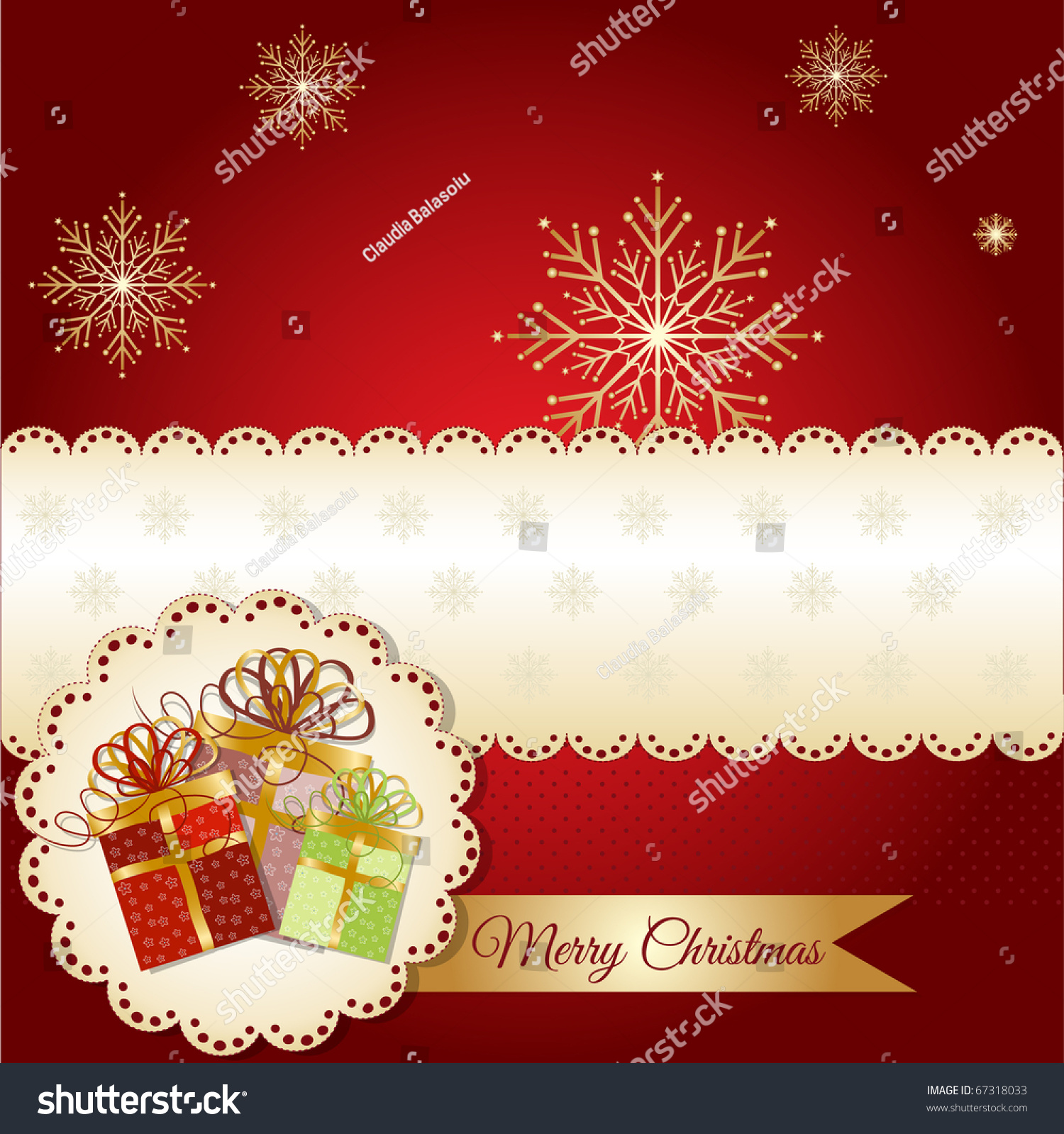 Christmas greetings card stock vector 67318033 shutterstock christmas greetings card kristyandbryce Image collections
