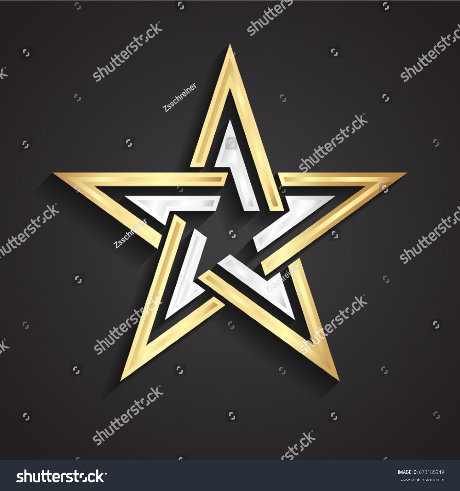 3d beautiful shape silver gold star stock vector 673185949 3d beautiful shape silver gold star symbol biocorpaavc Choice Image