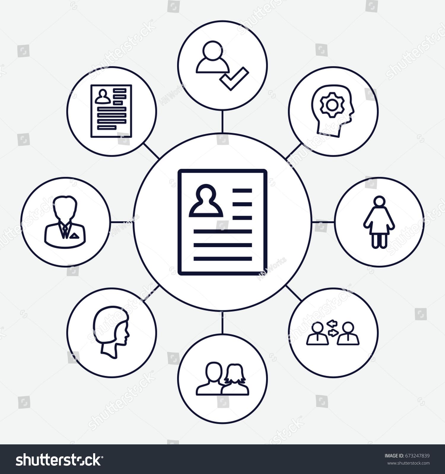 profile icons set set 9 profile stock vector 673247839 shutterstock