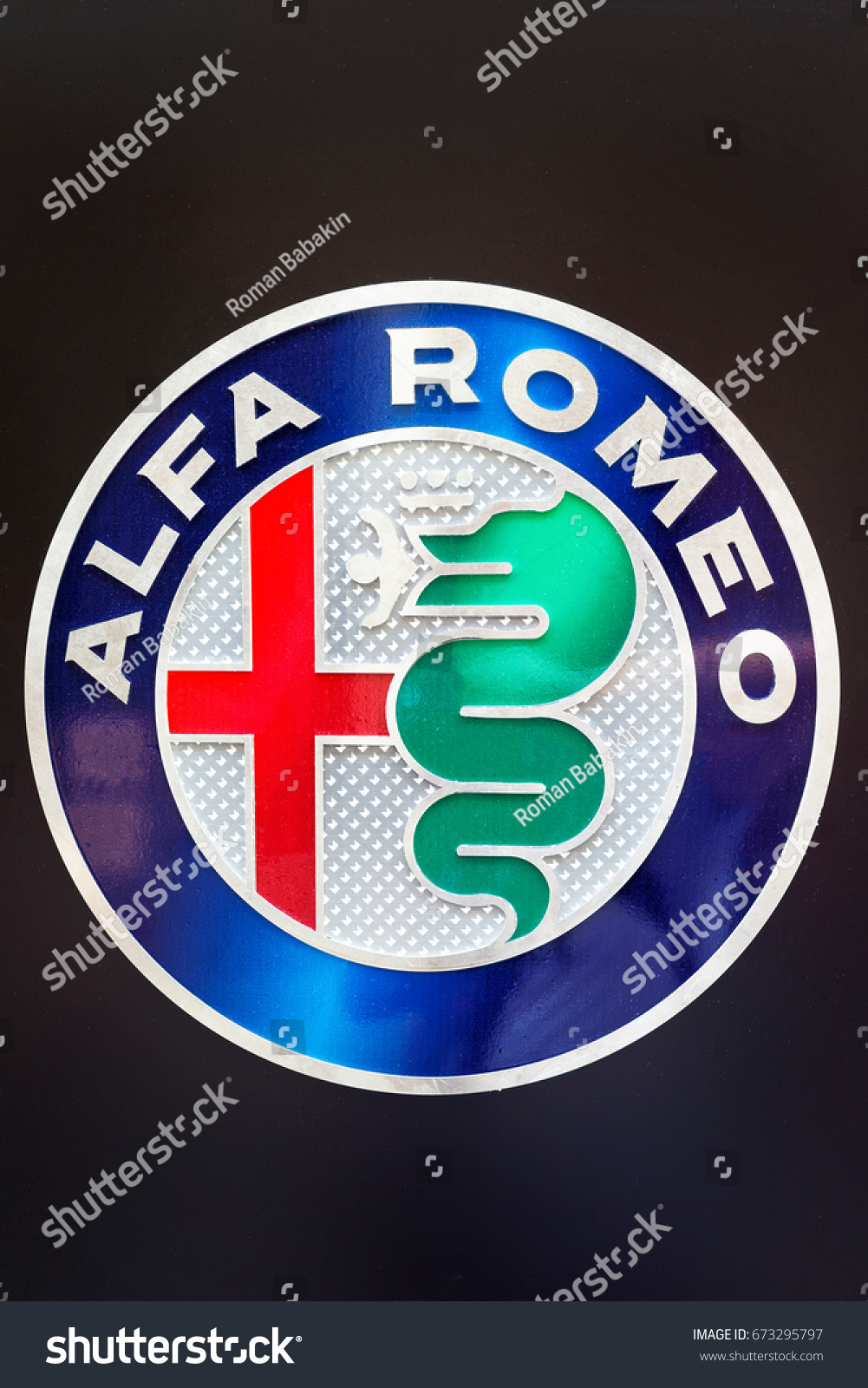 Germany Moenchengladbach April 16 2017 Logotype Of Alfa Romeo Logo Corporation Company On Dealership Building Ez Canvas