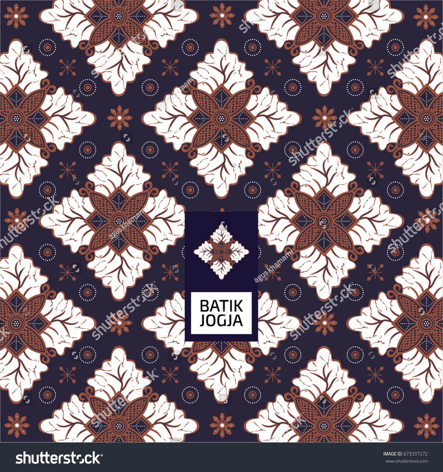Batik Jogja Pattern Stock Vector 673337272