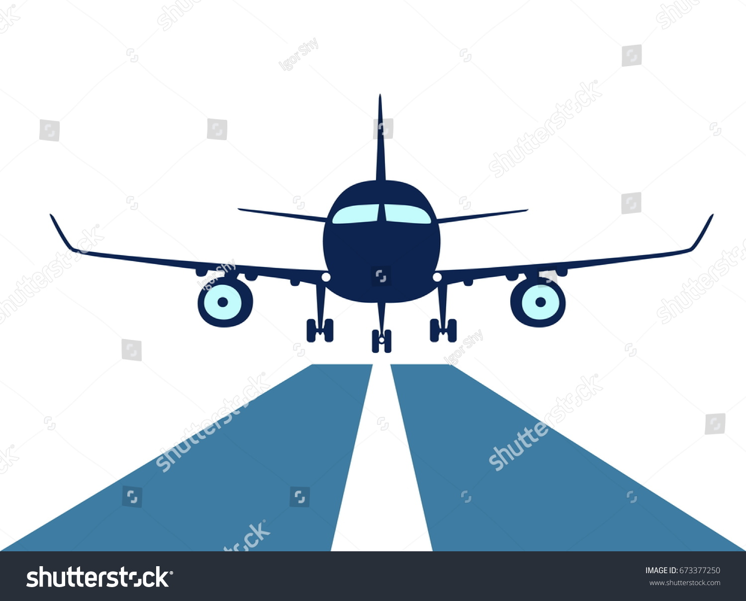 Airplane make good landing excellent approach stock illustration airplane make good landing with a excellent approach to runway symbol of the proper attitude buycottarizona Gallery