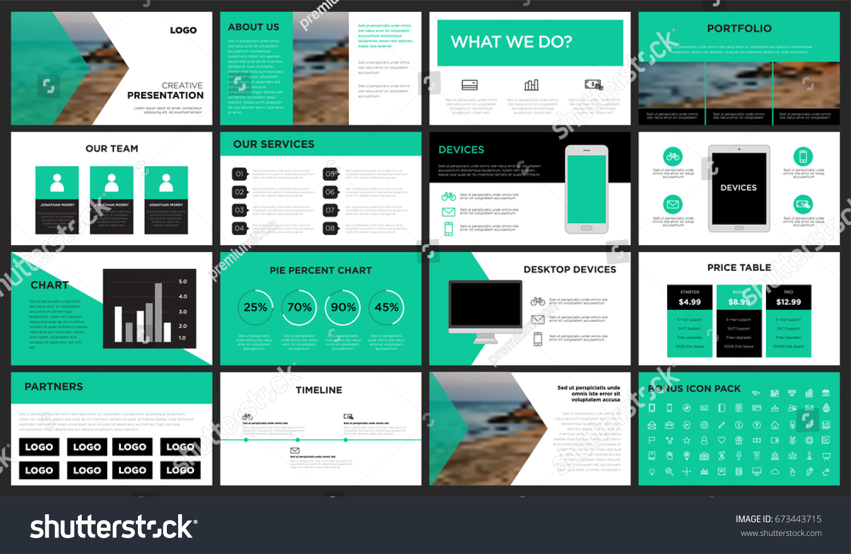 green modern presentation template you can stock vector 673443715, Presentation templates