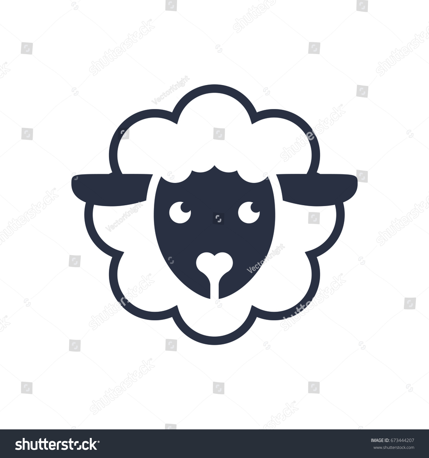 Sheep Logo Logo Template Sheep Head Stock Illustration 673444207 ...