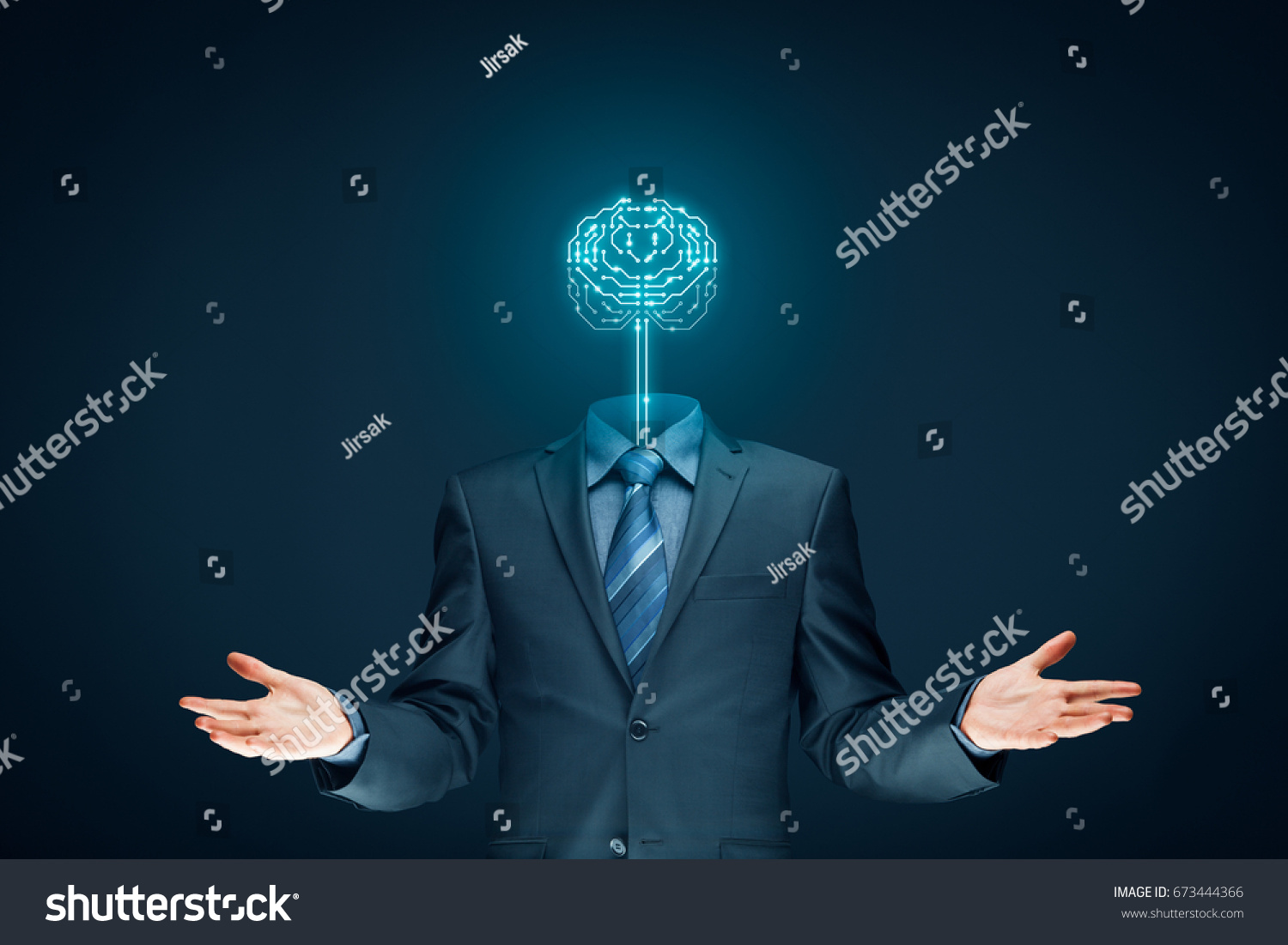 Brain Printed Circuit Board Pcb Design Stock Photo Edit Now Boardpcb Mass Production Product On With And Businessman Representing Artificial Intelligence Ai