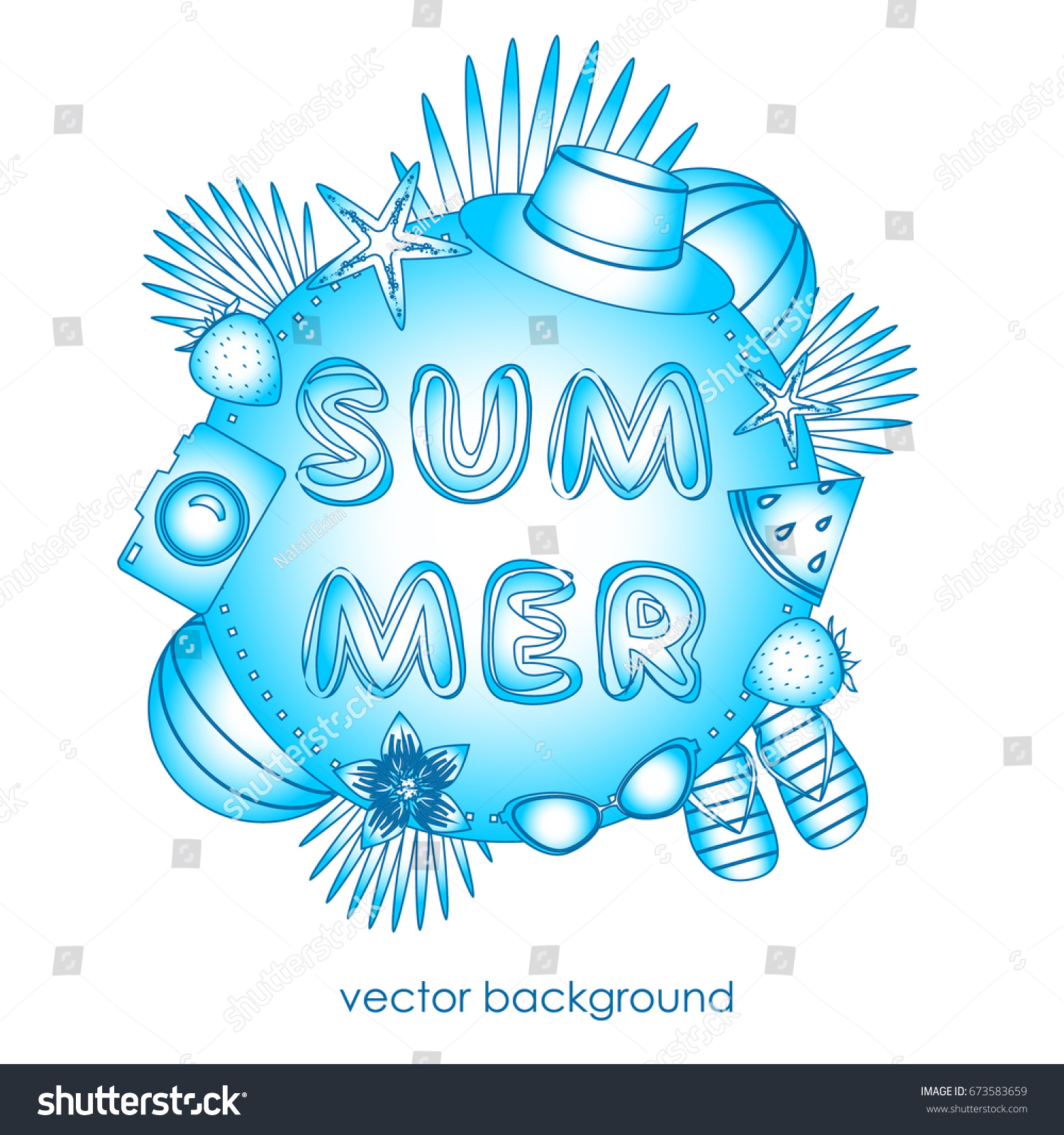 cb08d76d0753c9 Concept Postcards On Summer Theme Summer Stock Vector (Royalty Free ...