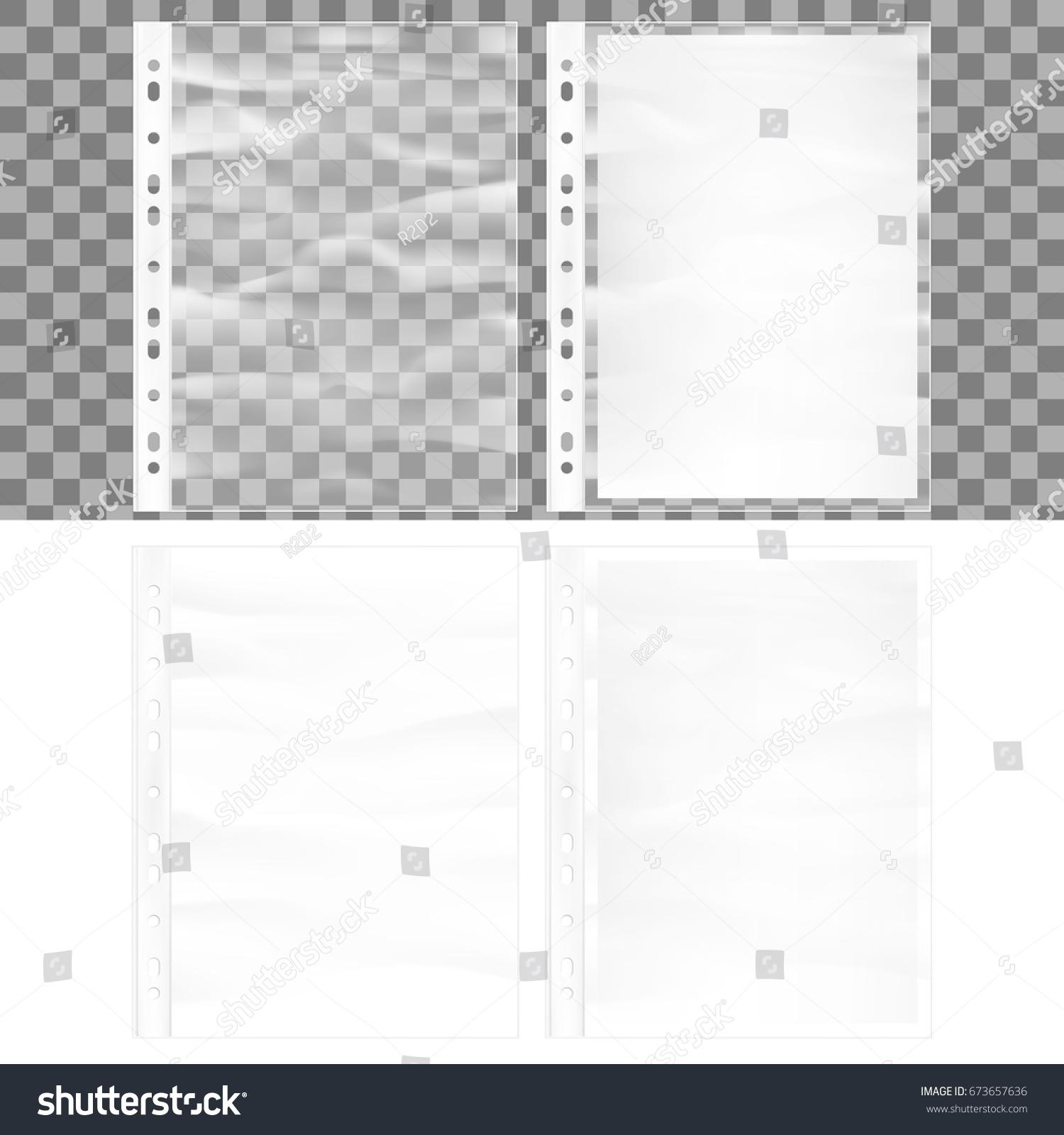 Illustration Cellophane Business Form Pocket Mock Vector – Business Form
